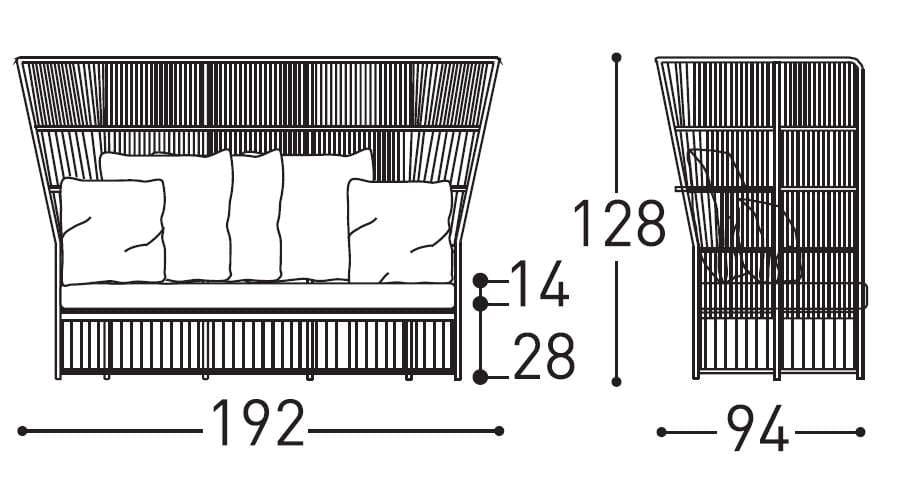 varaschin tibidabo high sofa dimensions
