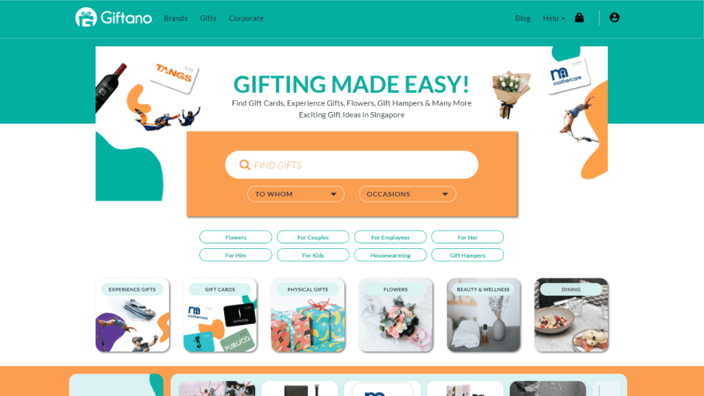 giftano homepage