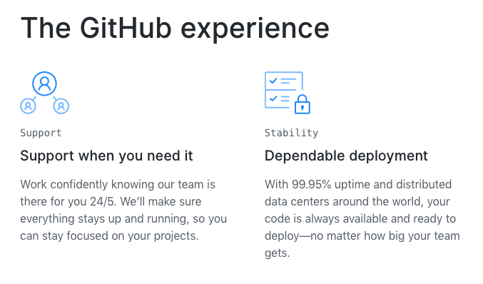 Screenshot of GitHub's website