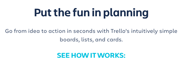 Screenshot of Trello's website