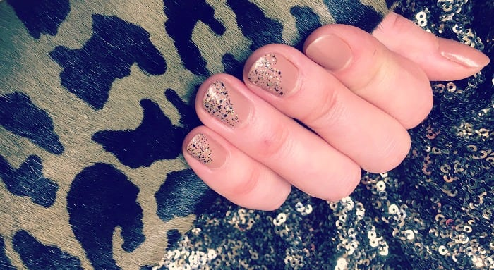 Sparkly nails for new years