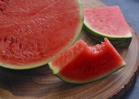 Credit:Sliced watermelon on wooden table;ponce_photography at Pixabay.com
