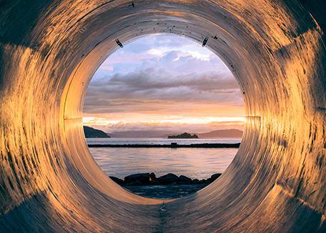 tunnel-leading-to-sunset-horizon; Credit: Erlend Ekseth at Unsplash.com