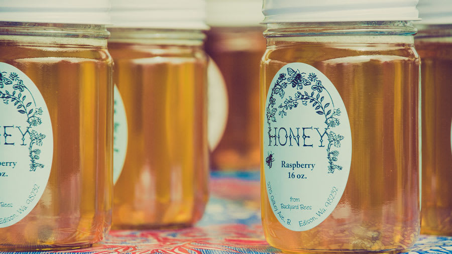 Jars of honey for wound care