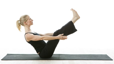 Boat pose in yoga helps improve lymph flow