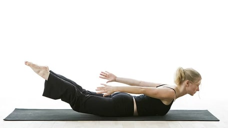 Locust pose in yoga helps improve muscle contraction and lymph flow
