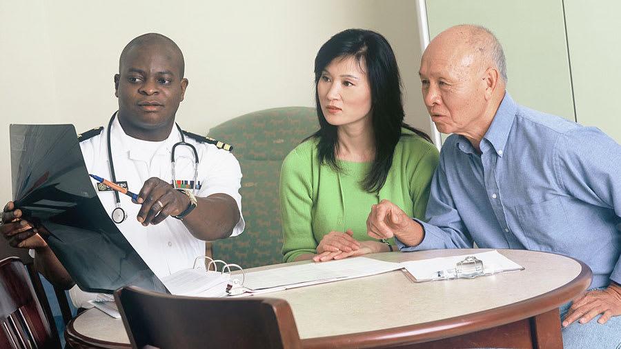 doctor breaking bad news to patients