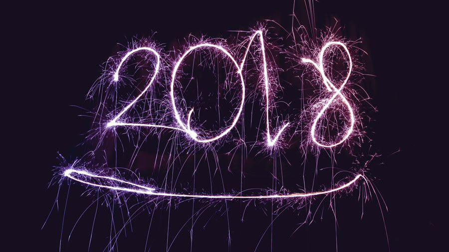 2018 new year's sign