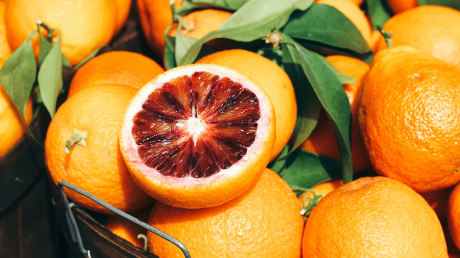 Oranges rich with the natural form of Vitamin C
