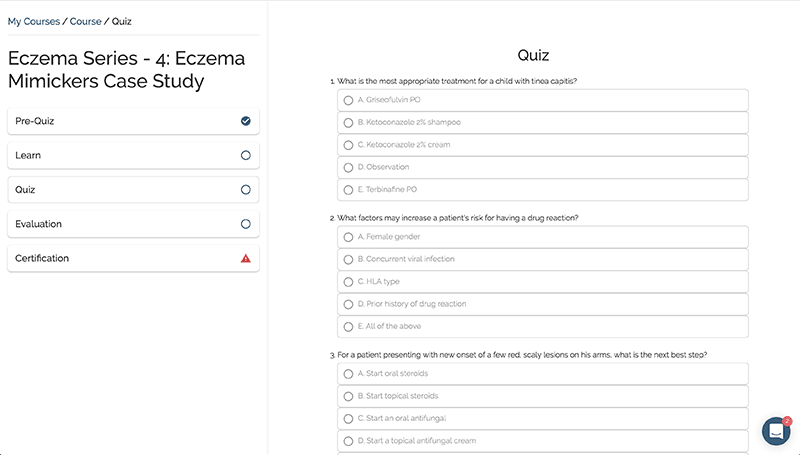 screenshot of post quiz image