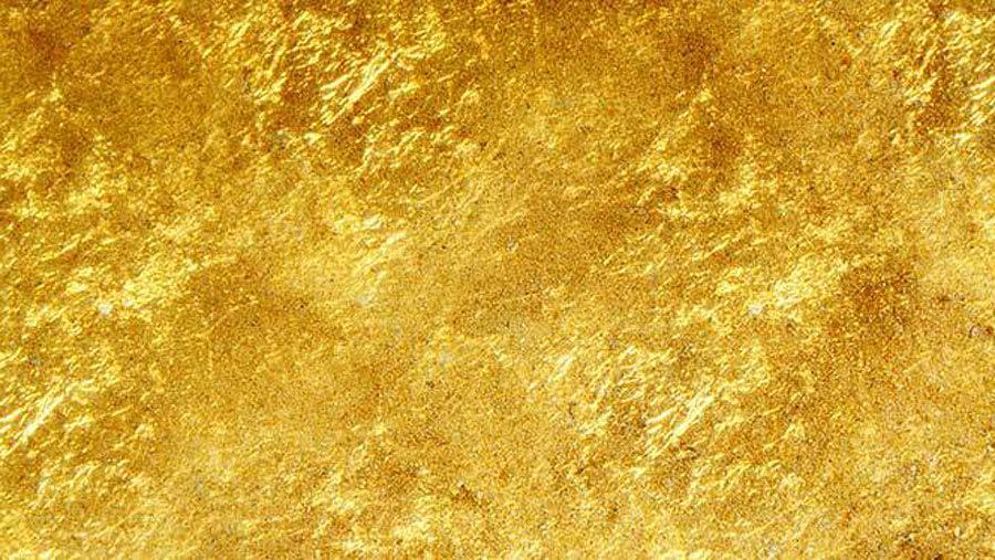 gold foil face mask