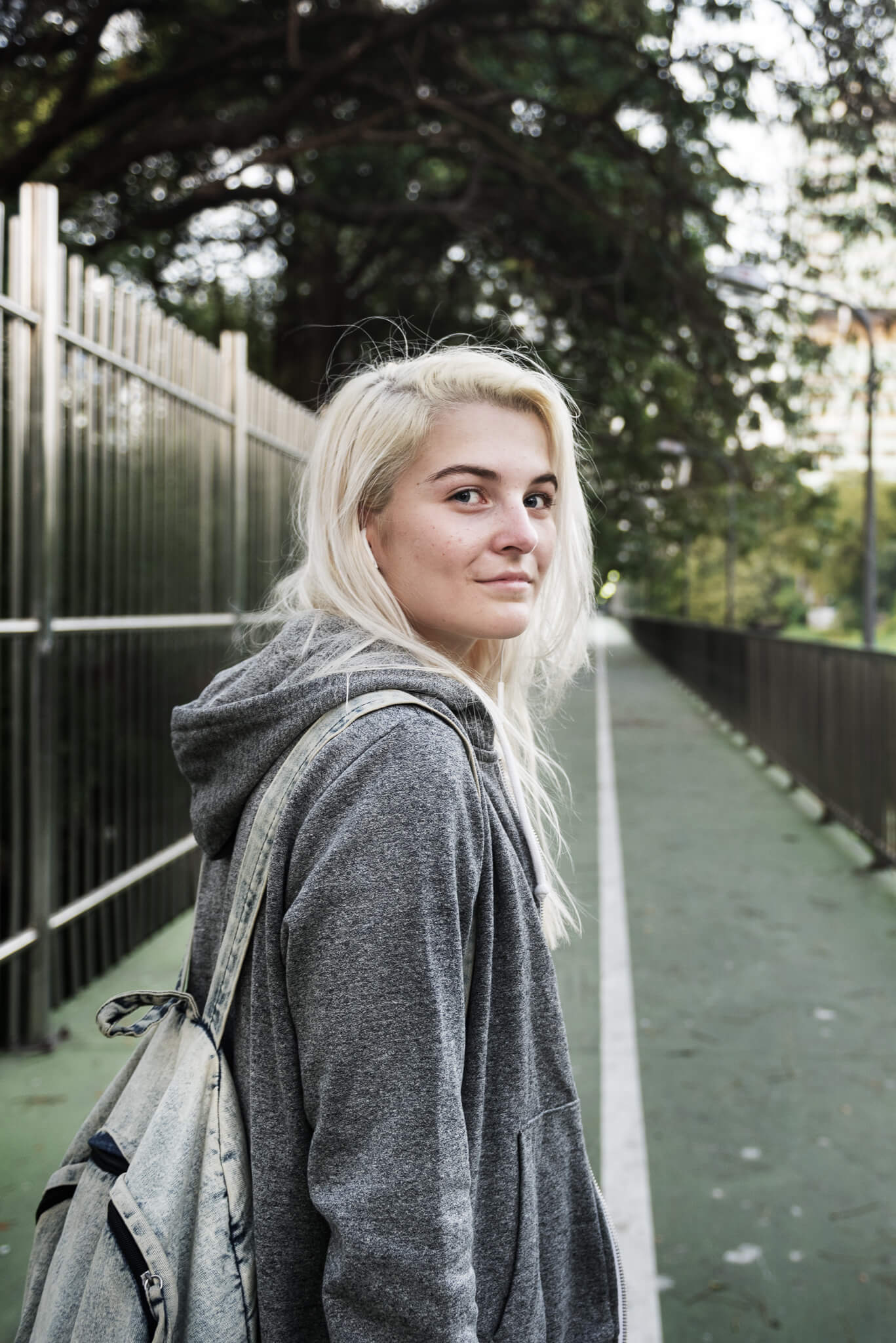 A young woman dealing with the reality of homelessness