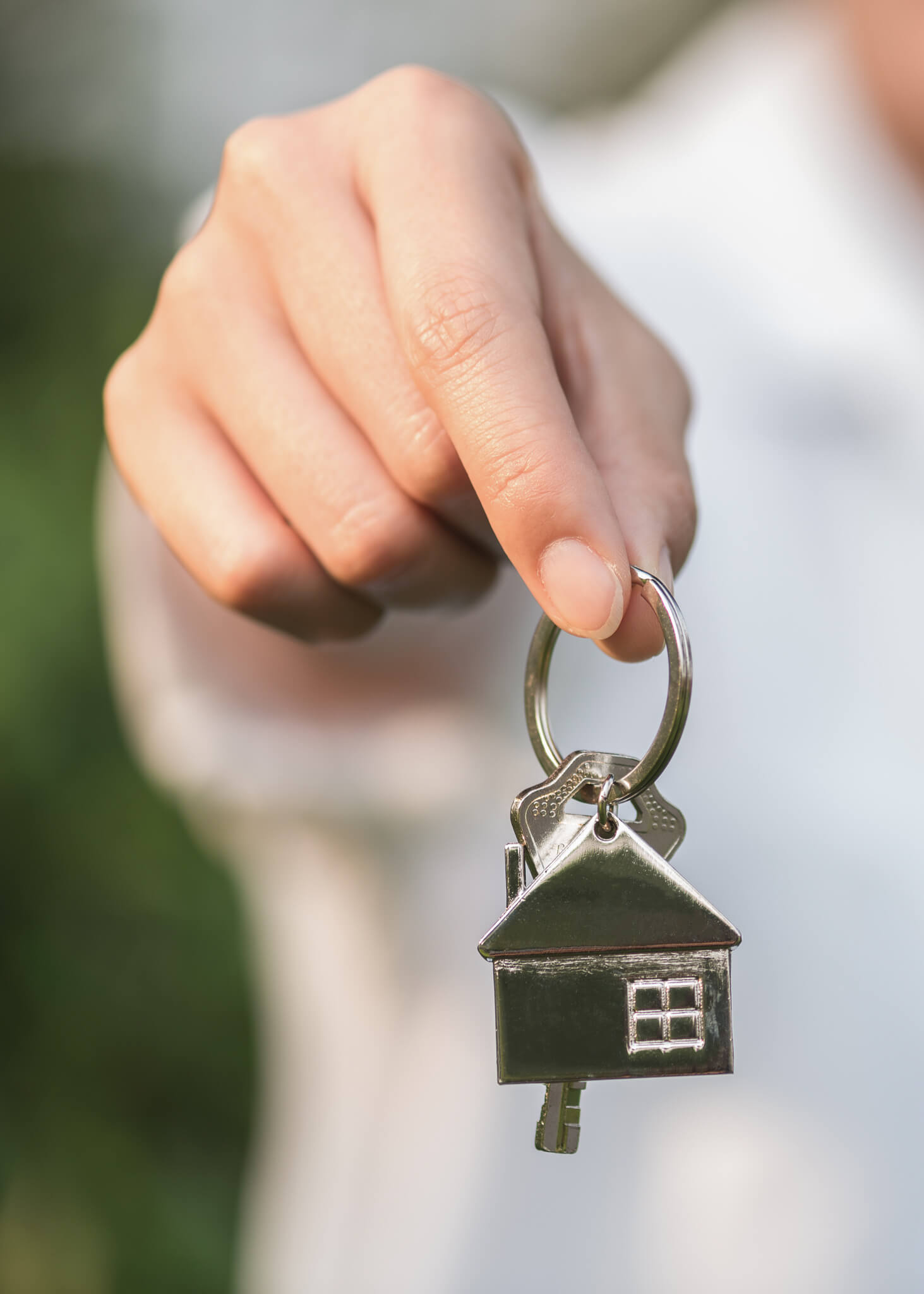 A Derventio property owner with a key to leased housing