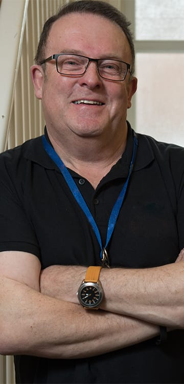 Ron, housing officer at Derventio