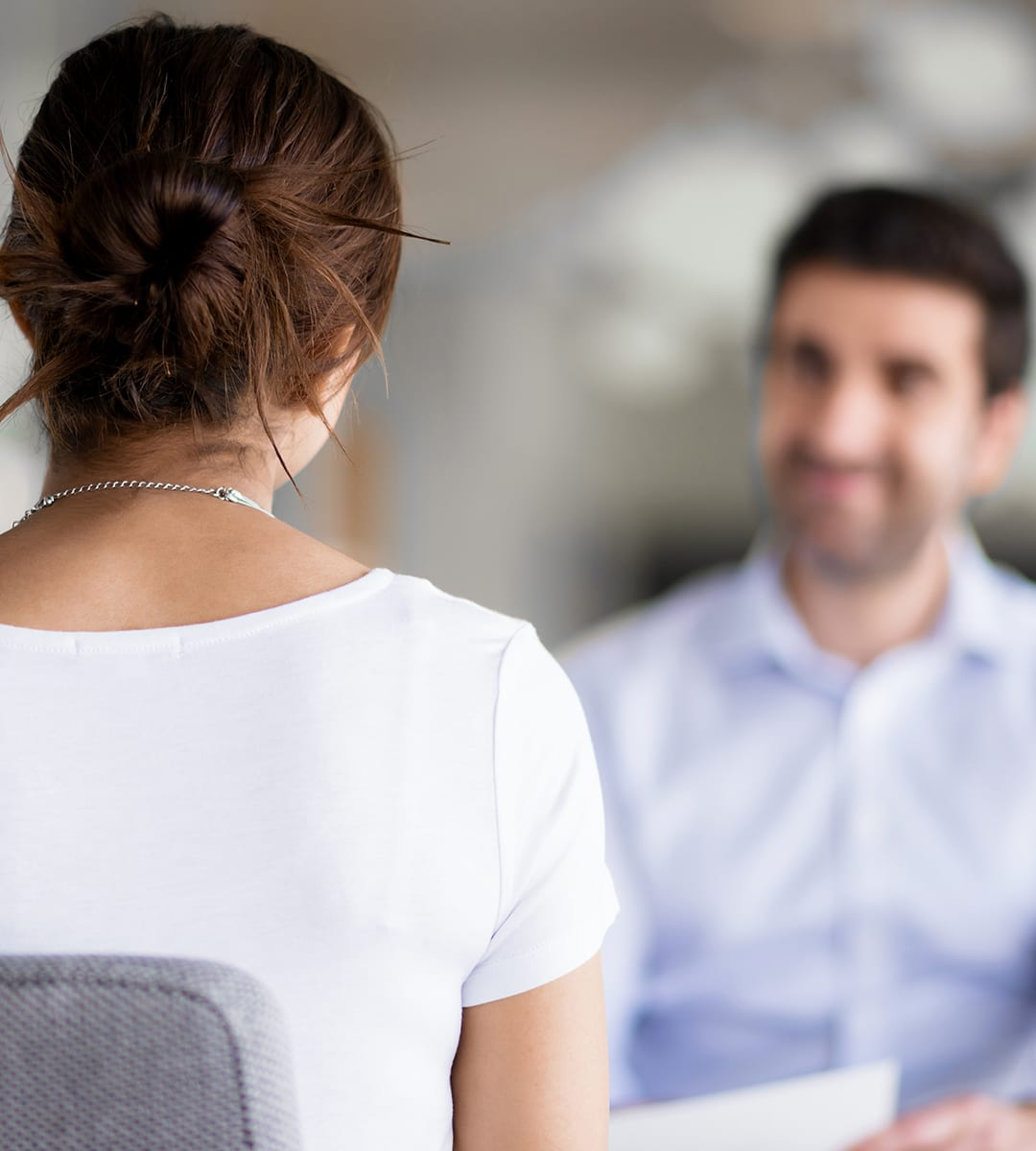 A mock job interview as part of Towards Work