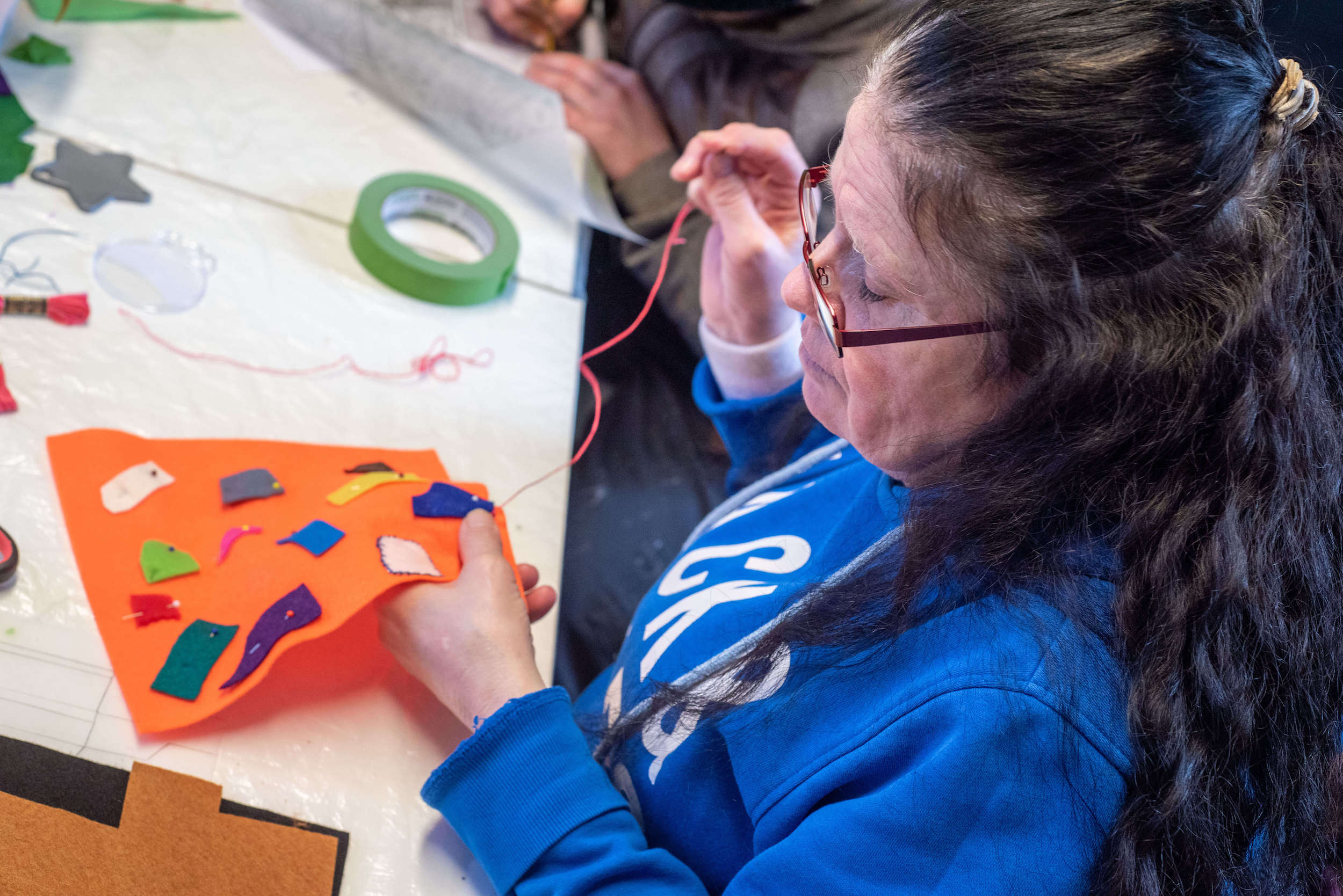 Creating textile banners at Growing Lives featured image