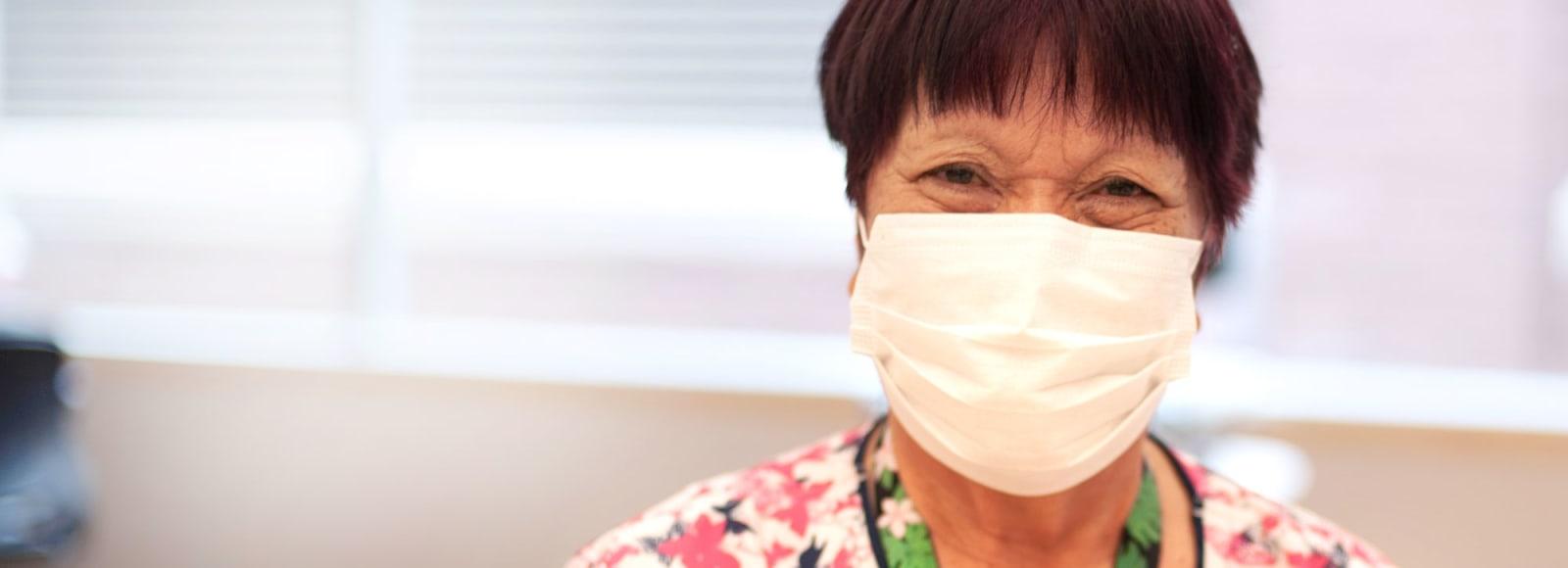 MultiCare nurse with mask