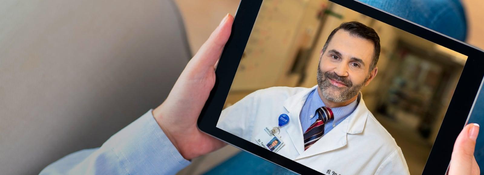 Virtual visit - provider on tablet
