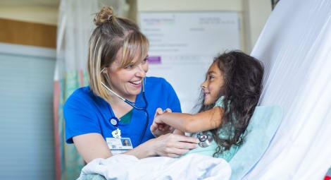 Mary Bridge nurse and patient-Patient