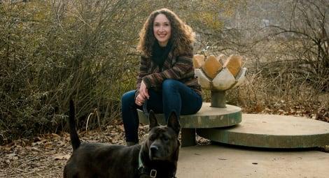 Samantha Clark, MHA, and her dog