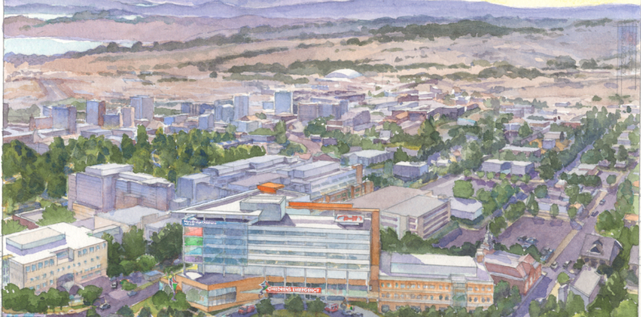 Rendering of the proposed Mary Bridge Children's Hospital