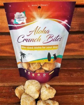 Organic Dog Treats Aloha Crunch Bites Manuka Honey