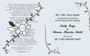 Smith Wedding Invitations