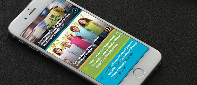 Picker institute homepage on iphone