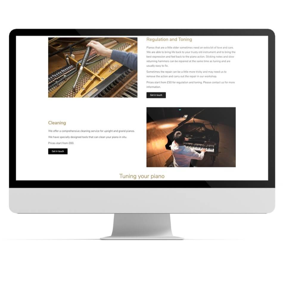 Resonant piano tuning website