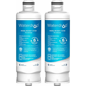 Waterdrop DA97-17376B Refrigerator Water Filter, NSF Certified, Compatible with Samsung DA97-17376B, DA97-08006C, HAF-QIN, HAF-QIN/EXP, Pack of 2