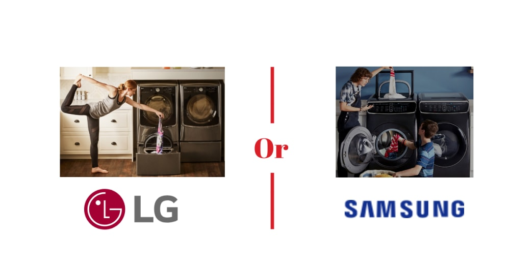 Samsung vs LG Washing Machines with Touch Sensitive ...