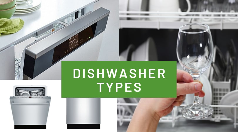 Dishwasher Types and Sizes - Standard or Portable?