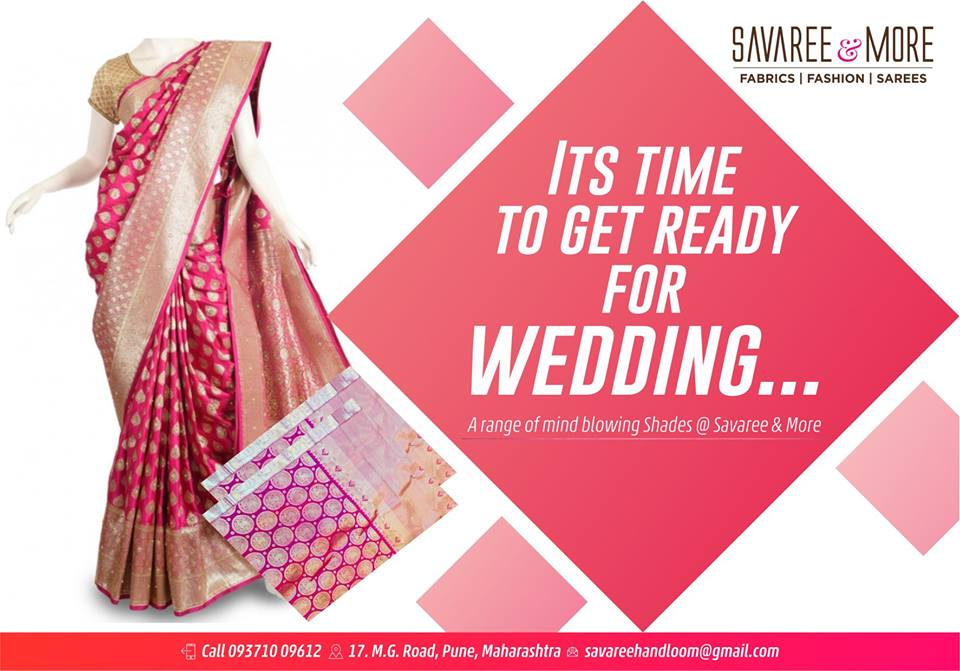 Savaree Exclusive Fabrics Pune.