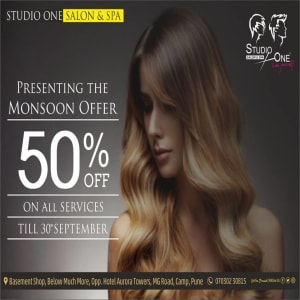 SOCIAL MEDIA MARKETING CREATIVES FOR STUDIO ONE SALON AND SPA PUNE