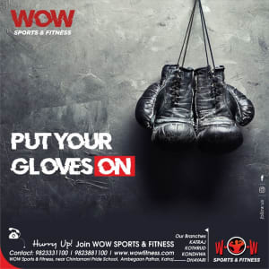 WOW SPORTS AND FITNESS GYM, PUNE CREATIVES FOR SOCIAL MEDIA MARKETING OF GYM (MAY)