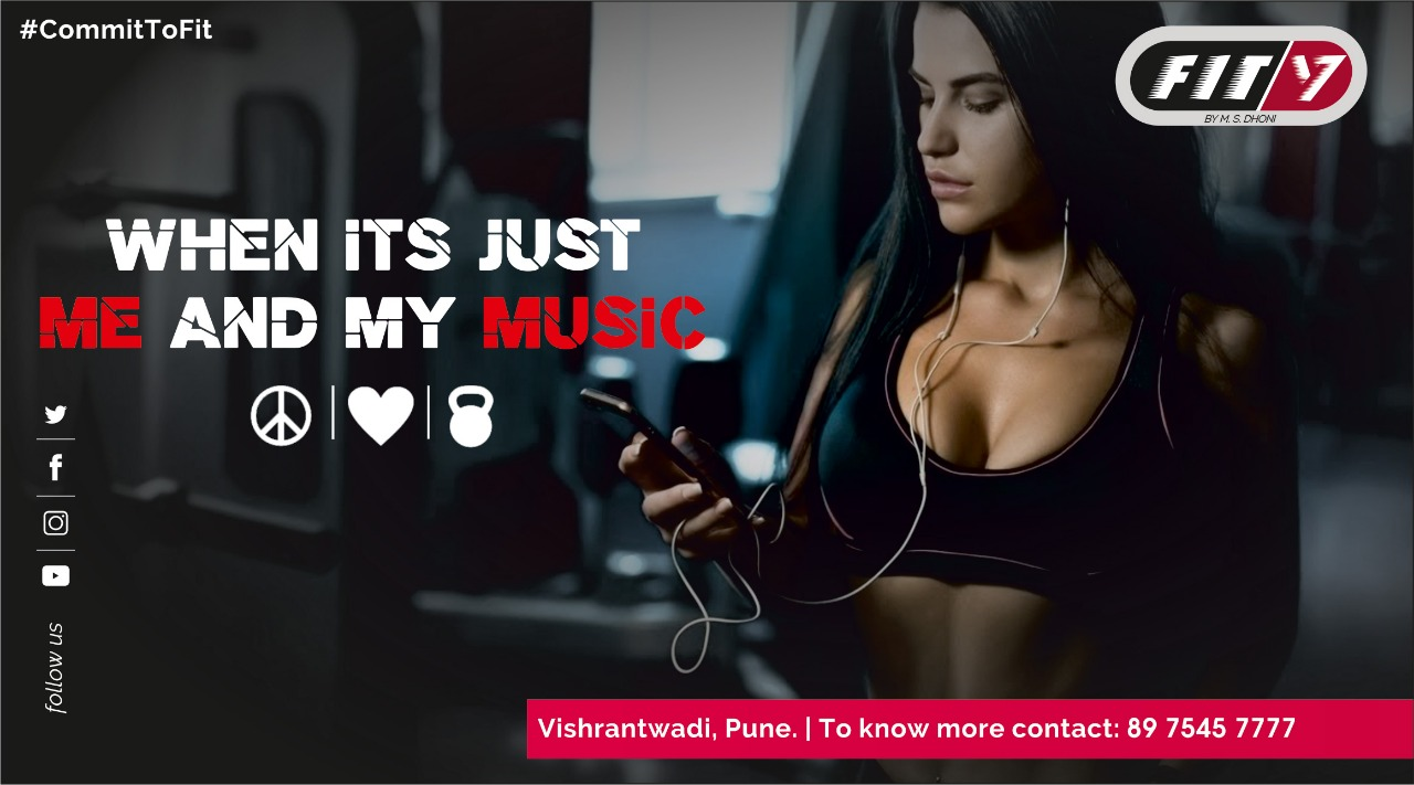 Gym and fitness centre social media marketing designs – Fit7 Pune by M.S.Dhoni