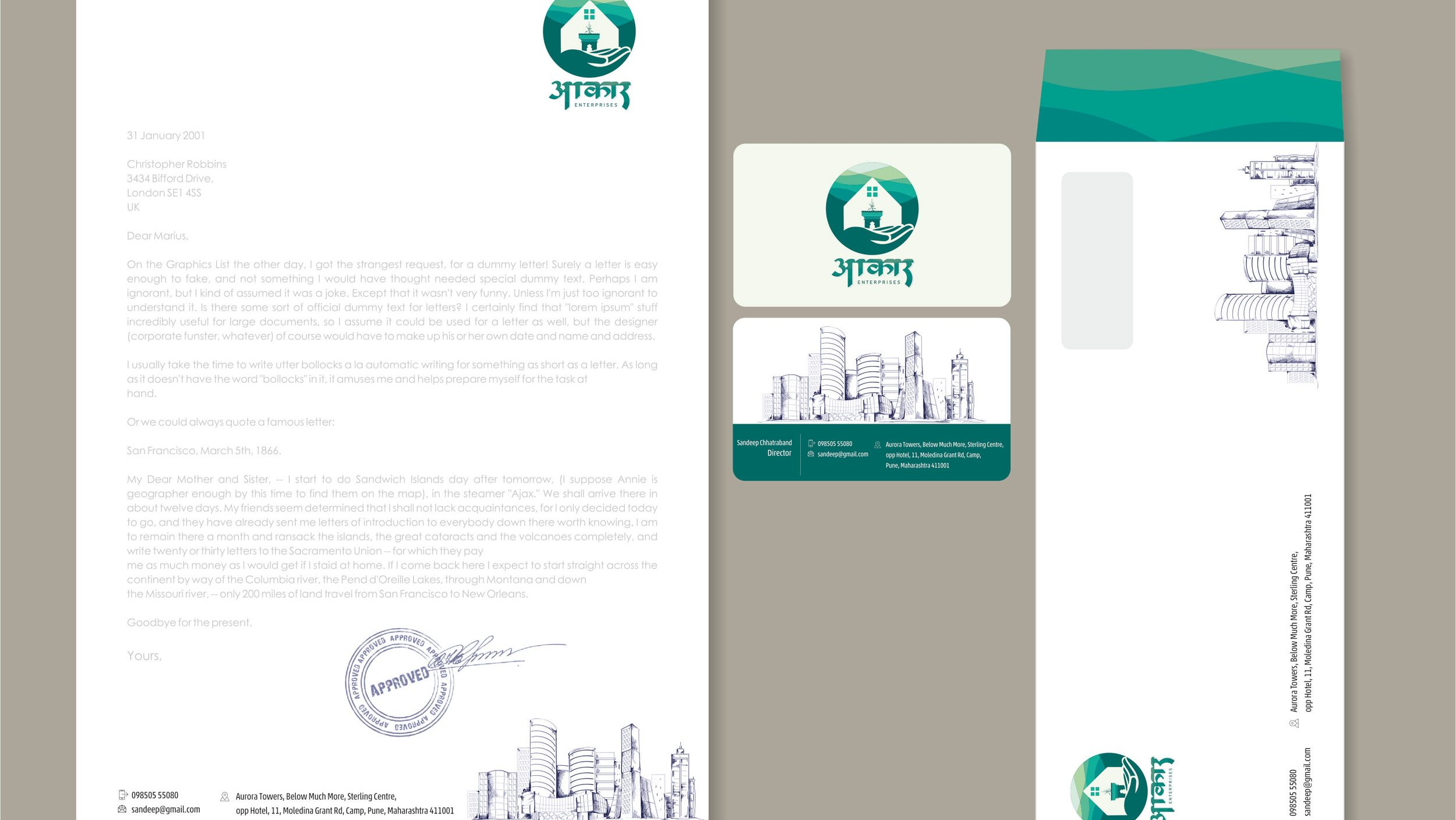 Real Estate Company Logo Design | Aakar Developers, Pune