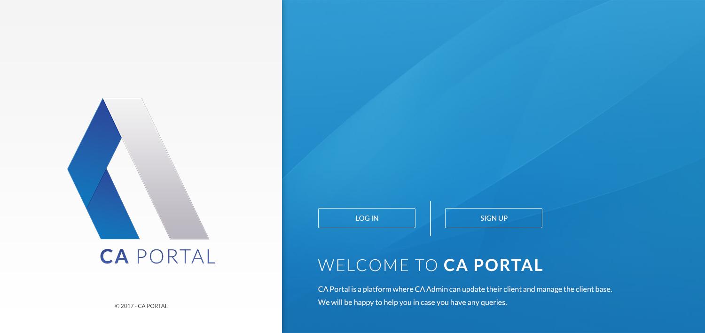 UI UX Designing for CA Portal software