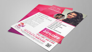 Leaflet Design for Unisex Salon in Pune, Calin Salon and Spa Wagholi