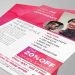 Leaflet Design for Unisex Salon in Pune, Calin Salon and Spa Wagholi