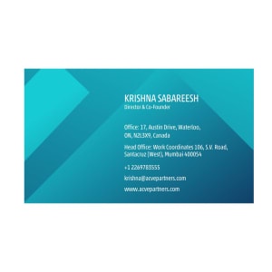 Read more about the article Visiting Card Design options Blue Gradients | Acve Management Solutions Mumbai