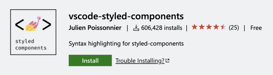 VSCode-styled-components