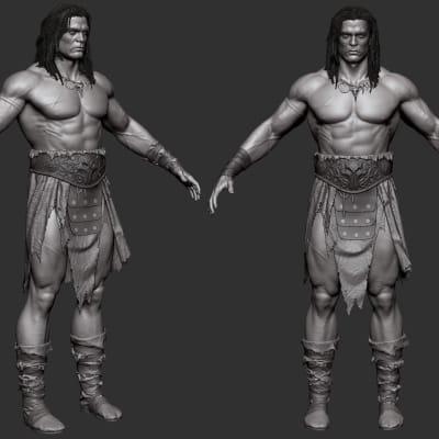 Conan - Zbrush Screen