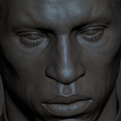 African Male - Zbrush Closeup