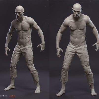 Vampire - Arnold Clay Render
