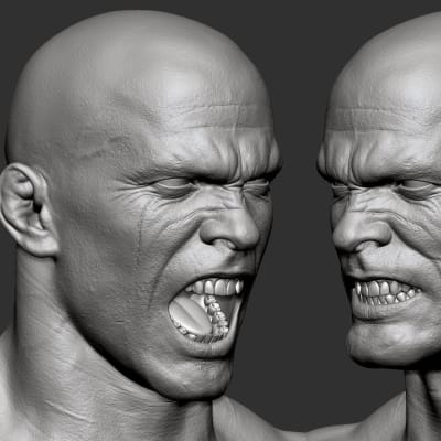 Conan - Expressions Zbrush