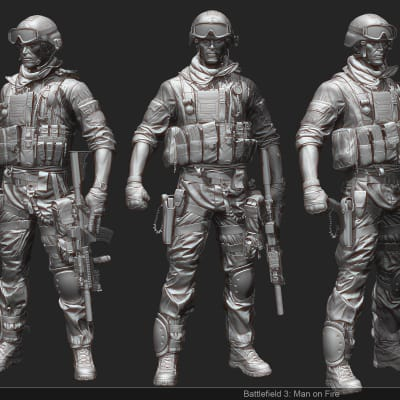 Battlefield 3 - Zbrush Screens