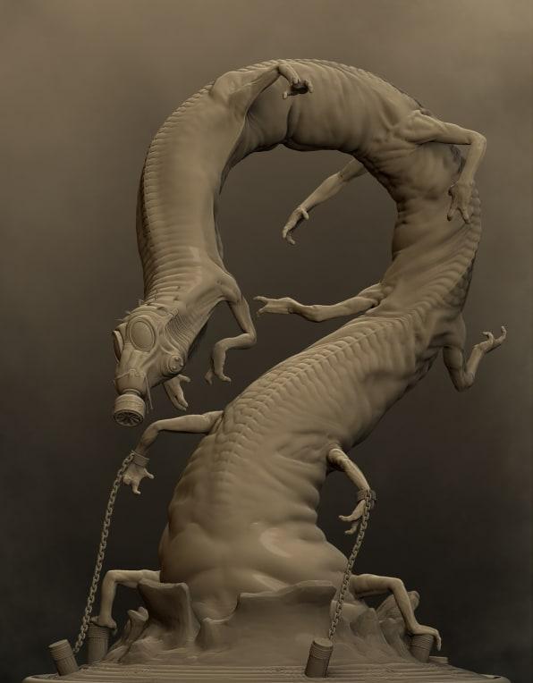 Centipede ex Inferis - Zbrush Render