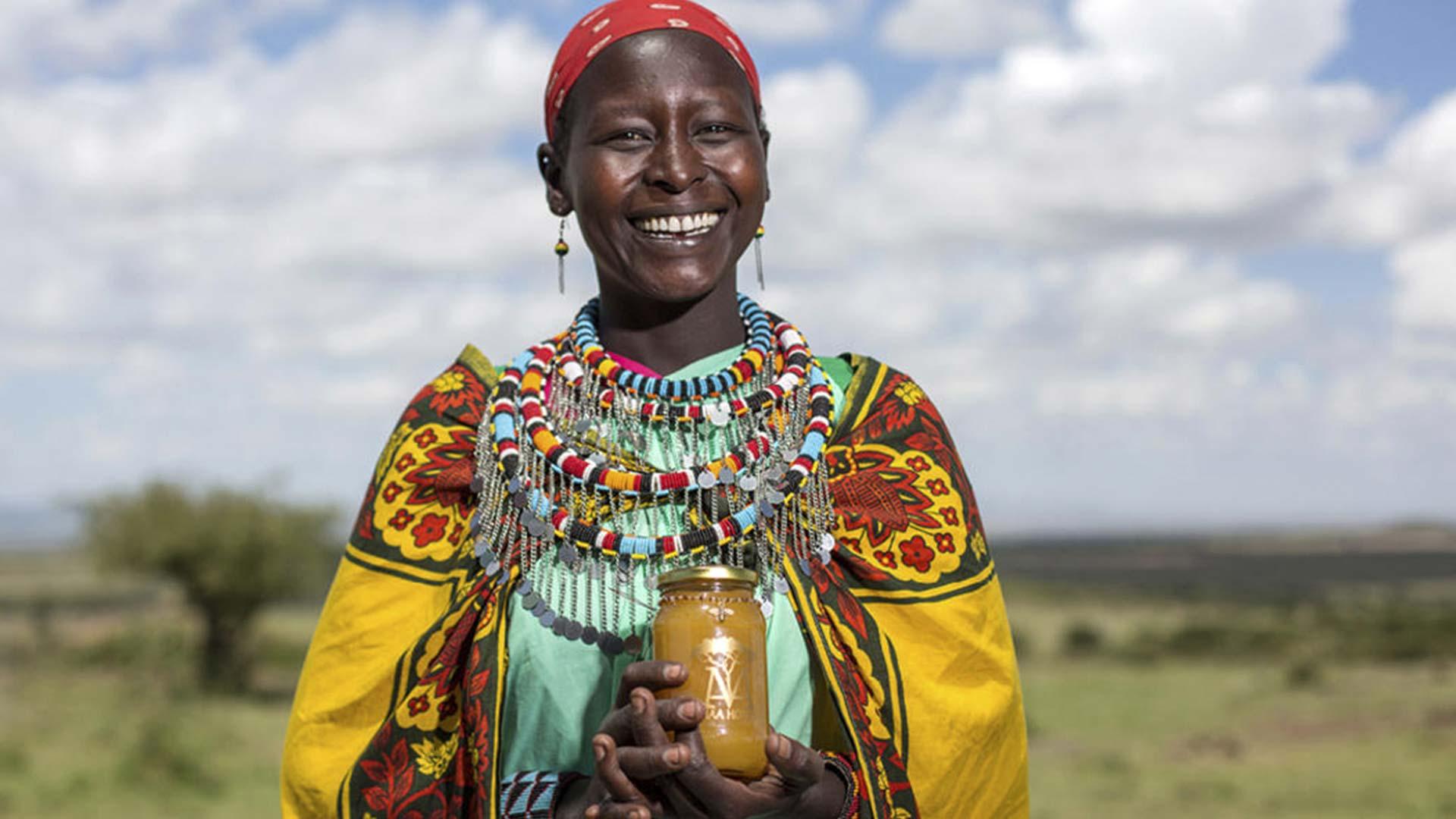 Smiling Masai Woman
