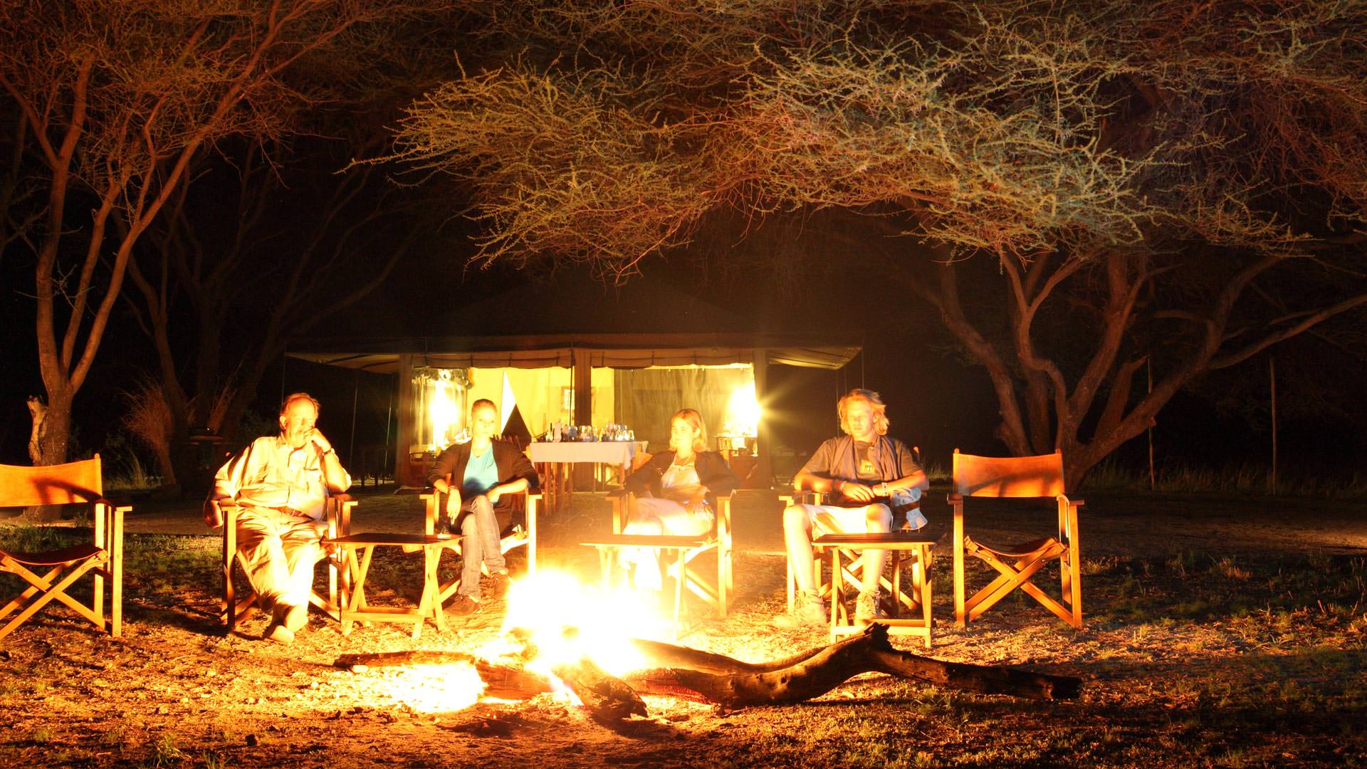 By the fireside at Manyara Ranch Conservancy